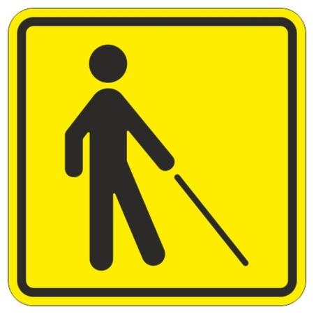 Знак безопасности тп18 знак уступите дорогу человеку с белой тростью  Технотерра