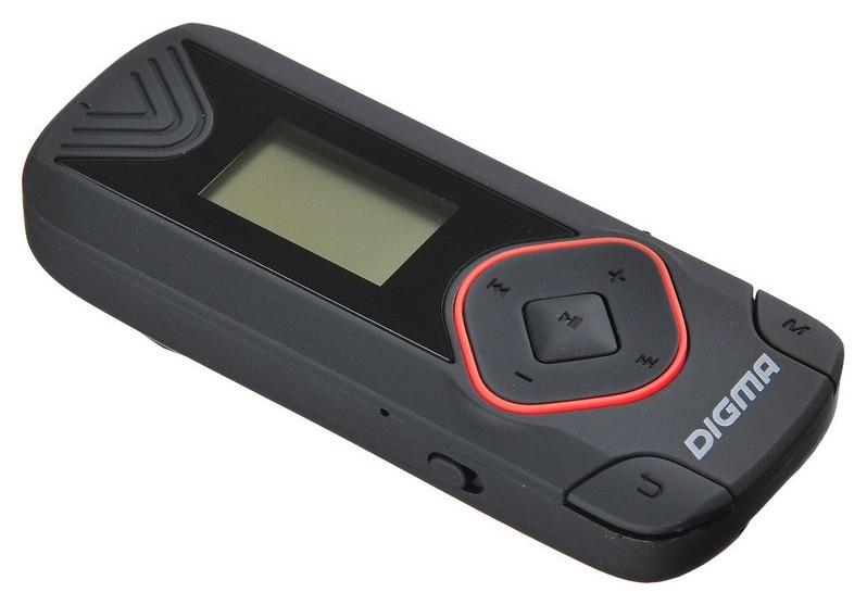 Плеер MP3 Digma R3 8Gb черный/0.8/fm/microsdhc/clip  Digma