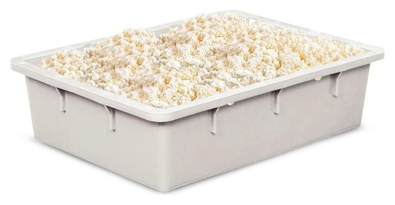 Контейнер пластиковый 532х400х141мм сплошной (Арт.306)_морозостойкий белый  NNB