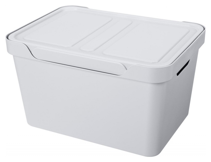 Ящик для хранения 380х276х220 ММ, 18Л светло серый  NNB