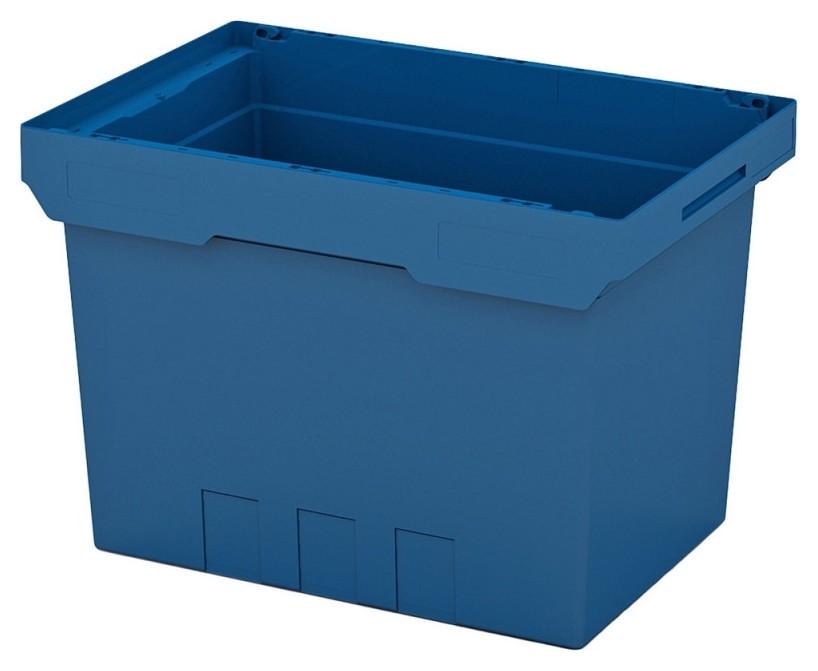 Ящик вкладываемый синий 600х400х420 с усиленным дном (KVR 6442)  I plast