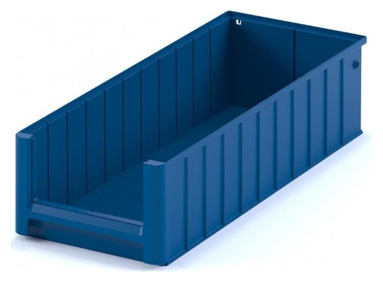 Контейнер полочный SK 6214 сплошной, 600 х 234 х 140 синий с перегородками  I plast