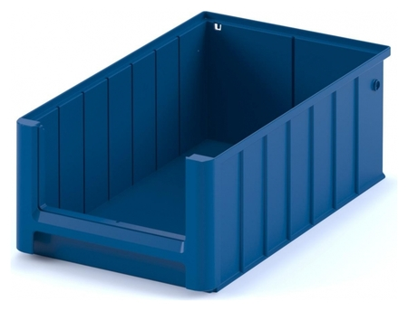 Контейнер полочный SK 4214 сплошной, 400 х 234 х 140 синий с перегородками  I plast