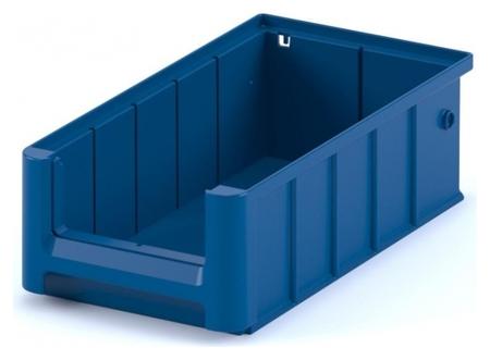 Контейнер полочный SK 31509 сплошной, 300 х 155 х 90 синий с перегородками  I plast