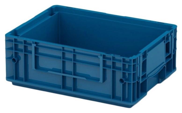 Ящик сплошной (Rl-klt 4147)396 х 397 х 147,5 синий дно с отверстиями  I plast