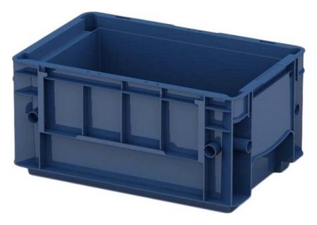 Ящик сплошной (R-klt 3215) 297 х 198 х 147,5 синий усиленное дно  I plast