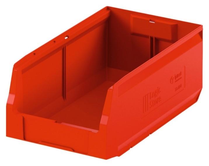 Лоток для склада Logic Store 400х225х150 красный (12.414)  I plast