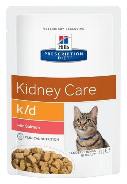 Корм Hill?s для кошек полноцен диетич рац заболеван почек лосось 85грx12 3410  Hill's