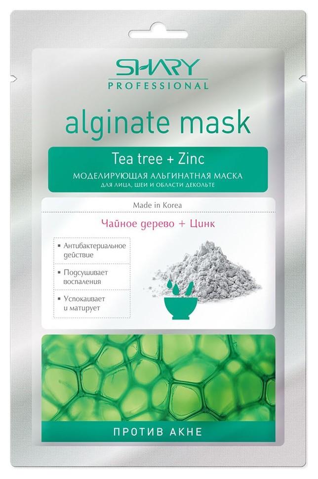 Моделирующая альгинатная маска для лица, шеи, декольте Против акне Чайное дерево и цинк Shary