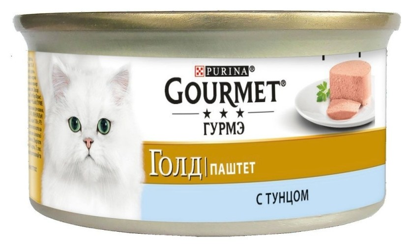 Корм влажный Gourmet паштет 85 г консервы для кошек, с тунцом 1х12  Bruggen