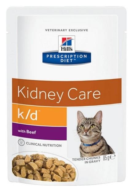 Корм Hill?s для кошек полноцен диетич рац забол почек говядина 85грx12 3411  Hill's