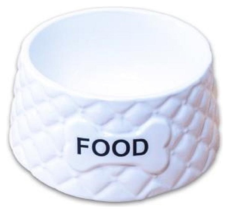 Миска керамическая для собак Food белая 680мл 5006729, 4000945006729  КерамикАрт