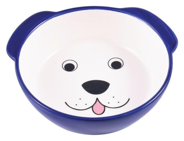 Миска керамическая для собак мордочка синяя 180мл 211147, 4000945211147  КерамикАрт