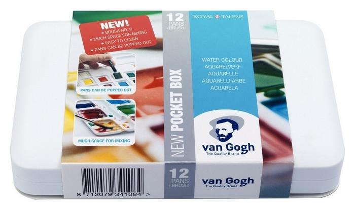 Краски акварельные Van Gogh 12цв кювета пластик.короб, 20808631  Royal Talens