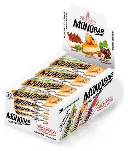 Батончик Monobar апельсин с протеином и коллагеном, 45 гр  Monobar