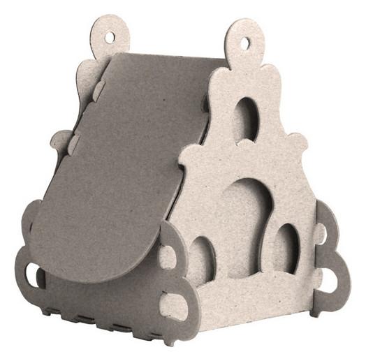 Набор для творчества сборный картонный домик для раскраш.,пион,30010-501 Smubic