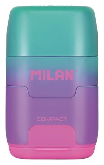 Ластик-точилка Milan Compact Sunset ластик из синт каучука фиол-розовый  Milan