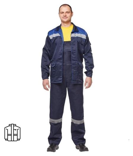 Спец.одежда летняя куртка муж. л03-ку синий. (Р.60-62) 158-164 NNB