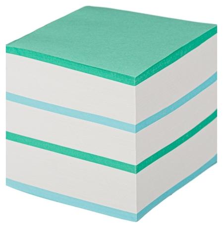 Блок для записей Attache Economy на склейке 9х9х9 цветной 65 гр 92  Attache