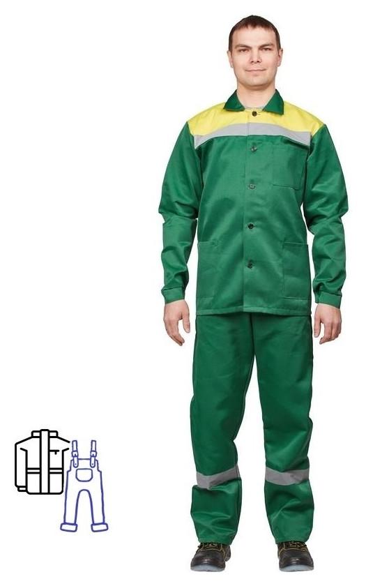 Спец.одежда летняя костюм летний л02-кпк кур/пк зел/желт 64-66/170-  NNB
