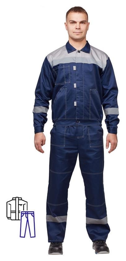 Спец.одежда летняя костюм муж. л20-кбр синий/сер (Р.48-50) 158-164 NNB