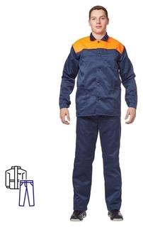 Спец.одежда летняя костюм муж. л16-кбр син/оранж (Р.64-66) 182-188
