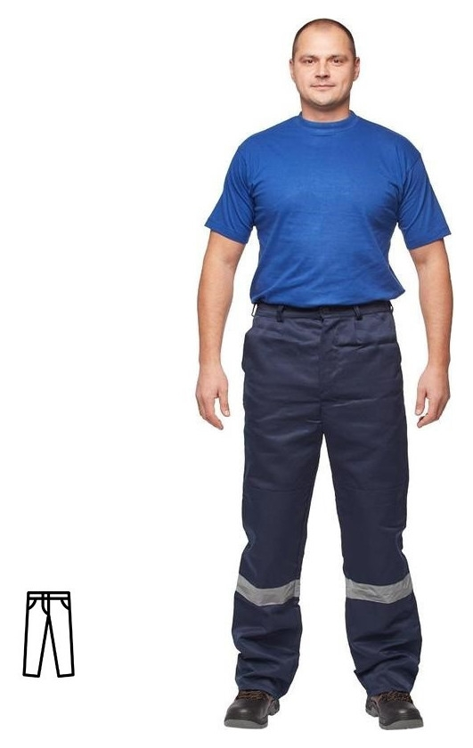 Спец.одежда летняя брюки муж. л03-бр синий. (Р.52-54) 170-176 NNB