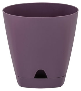 Горшок для цветов Amsterdam D 250mm/8l морозная слива Ing6202мс  InGreen