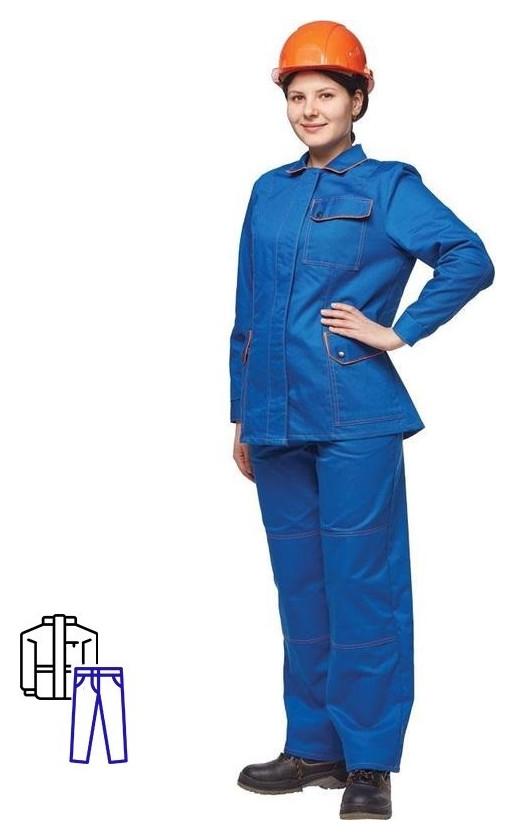 Спец.одежда летняя костюм жен. л06-кбр вас.оранж. (52-54)170-176 NNB