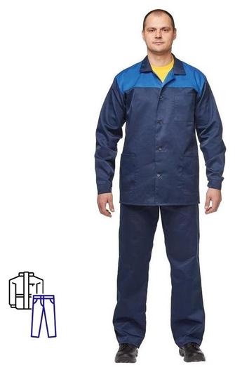 Спец.одежда летняя костюм муж. л16-кбр син/вас (Р.44-46) 170-176 NNB