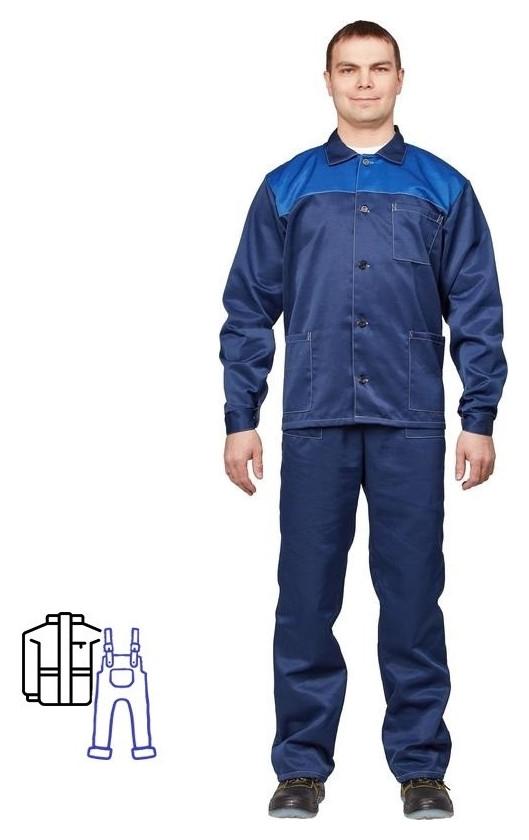 Спец.одежда летняя костюм муж. л16-кпк син/вас (Р.56-58) 182-188 NNB