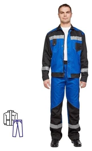 Спец.одежда летняя костюм мужской л21-кбр вас/черн. (Р.48-50) 170-176 NNB
