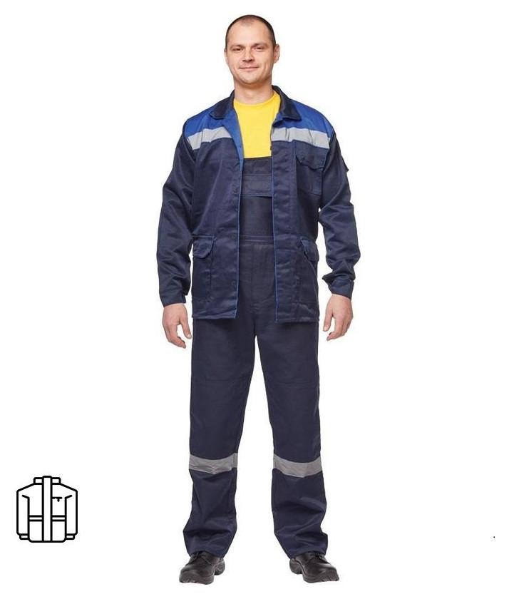 Спец.одежда летняя куртка муж. л03-ку синий. (Р.44-46) 158-164 NNB