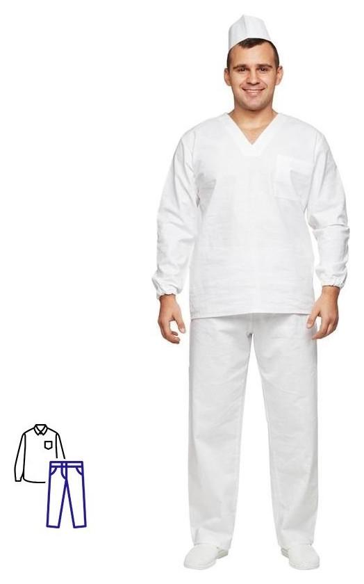 Спец.халат костюм пекаря универсальный/у05-кбр дл.рук. (Р.60-62) р.170-176 NNB