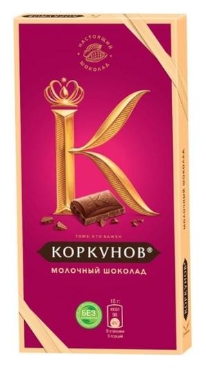Шоколад коркунов молочный шоколад, 90 г  А.коркунов