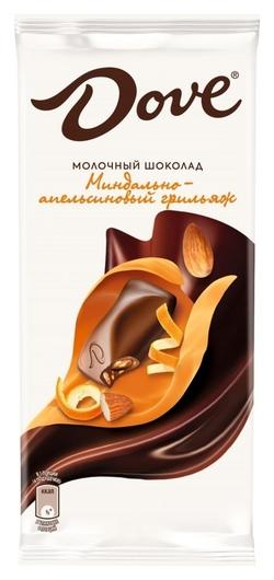 Шоколад Dove молочный шоколад миндаль апельсин, 90 г  Dove