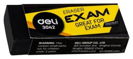 Ластик Deli Premium 60x24x12мм черный индивид картонная упаковка E3042  NNB