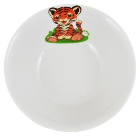 Салатник идиллия 360мл полосатики тигрята (7с2029)  Добрушский фарфоровый завод