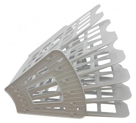 Лоток для бумаг Attache веер сборный на 5 отделений серый юк  Attache