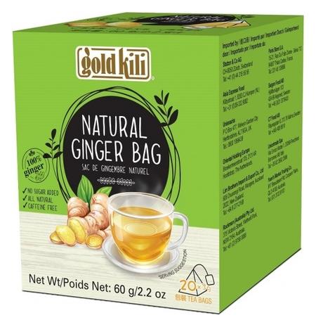 Чай Gold Kili имбирь натуральный пакетированный в пирамидках, 20пак/уп  Gold kili
