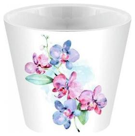 Горшок для цветов London Orchid Deco D160 мм/1,6 л голуб орхидея Ing6196гл  InGreen