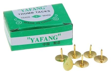 Кнопки 12 мм, золотистые, в картонной коробке, 50 шт. Calligrata