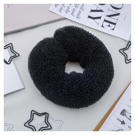 Валик для волос, на кнопке, чёрный NNB