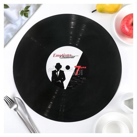 """Подкладка настольная 38 см """"Виниловая пластинка""""  NNB"""
