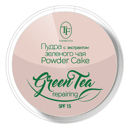 Пудра для лица Compact powder Green tea  Триумф
