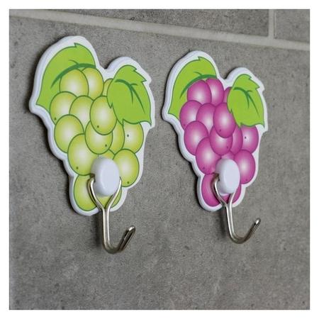 Набор крючков на липучке «Виноград», 2 шт  NNB