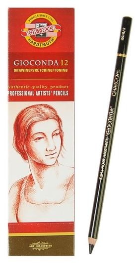 Уголь в карандаше 4.2 мм Koh-i-noor Gioconda 8810/2, Charcoal 4.2, средний (Искусственный)  Koh-i-noor