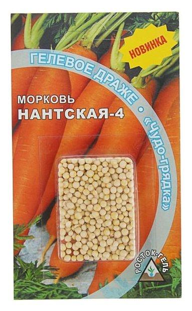 """Семена морковь """"Нантская 4"""" гелевое драже, 300 шт  Росток-гель"""