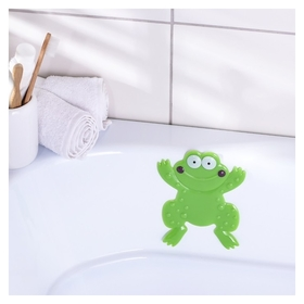 Мини-коврик для ванны доляна «Лягушонок», 11,5×14 см, цвет зелёный  Доляна
