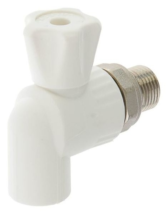 """Кран шаровой для радиатора Valfex, полипропиленовый, угловой, D=20 мм х 1/2""""  Valfex"""